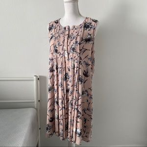 💝 Pink Pleated Front Sun Dress